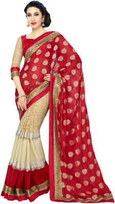 LeepsPrints Self Design Bollywood Viscose Sari