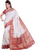 Ishin Paisley Fashion Art Silk Saree (Wh...