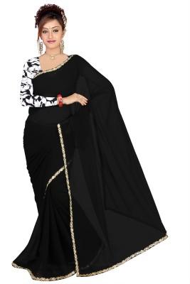 FabDesire Embriodered Fashion Georgette Sari