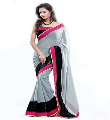 Sunidhi Creation Self Design Bollywood Chiffon Sari
