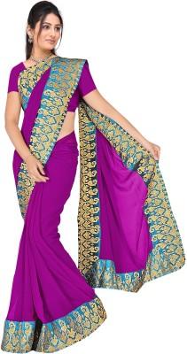 MGS Solid Fashion Chiffon Sari