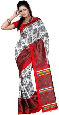 JOHANN Self Design Bhagalpuri Art Silk Sari