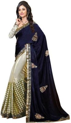 Texclusive Self Design Bollywood Satin Sari