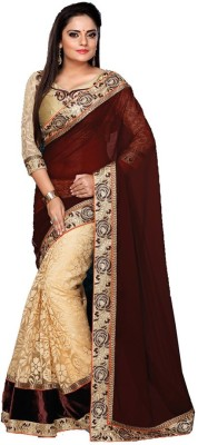 The Great Bhagwati Embriodered Bollywood Net Sari
