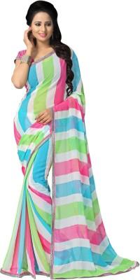 Style Merger Printed Daily Wear Chiffon Sari