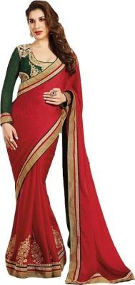 Zeel Fashion Embriodered Fashion Georgette Sari