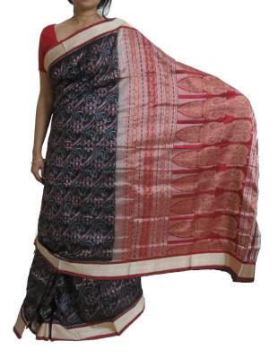 Xupply Floral Print Bomkai Handloom Silk Sari