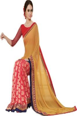 G Creation Embriodered Fashion Pure Georgette Sari