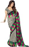 Sunaina Printed Daily Wear Synthetic Sar...