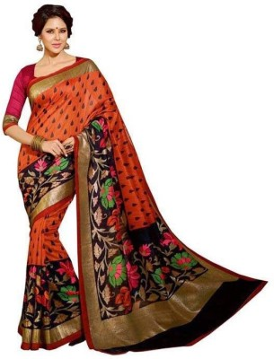 Kabariya Printed Fashion Poly Silk Sari