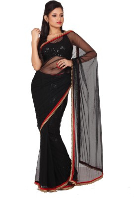 Sanghmitra Creations Plain Fashion Handloom Net Sari