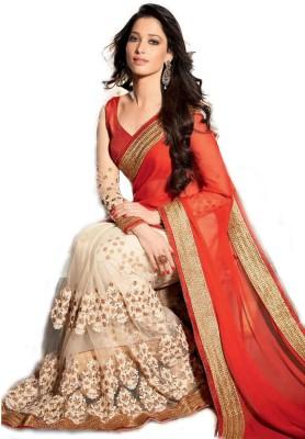 Jhalak Fashion Self Design Fashion Georgette Sari
