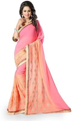 See More Self Design Bollywood Georgette Sari
