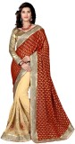 Aasvaa Embroidered Fashion Raw Silk Sare...