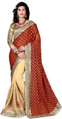 Aasvaa Embriodered Fashion Raw Silk Sari