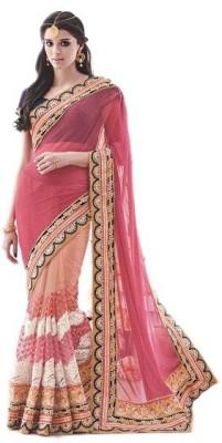 NARGIS FASHION Embriodered Fashion Lycra Sari