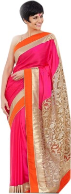 Shree Hans Creation Solid Daily Wear Georgette Sari