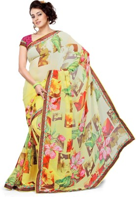 KL COLLECTION Floral Print Daily Wear Georgette Sari