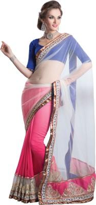 Urjita Creations Self Design Fashion Net, Georgette Sari