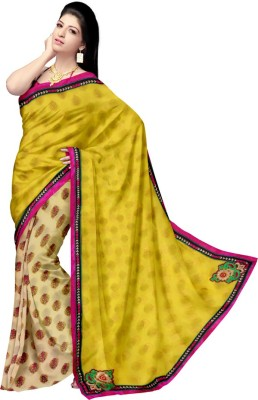 Glitters Self Design Fashion Georgette Sari
