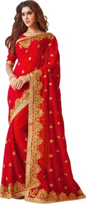 Pahal Fashion Self Design, Embriodered Fashion Georgette Sari