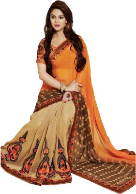 Ruddhi Embellished, Embriodered Fashion Georgette Sari
