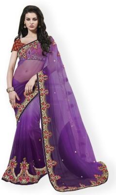 Vidya Fashion Embellished Fashion Net Sari