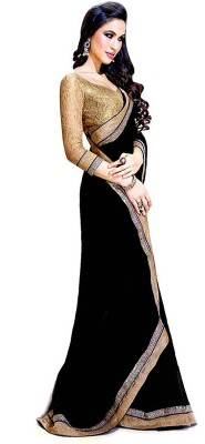 Aradhya Selling Store Embriodered Bollywood Synthetic Georgette Sari