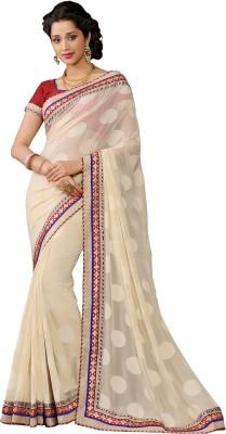 Vonage Printed Bollywood Georgette, Jacquard Sari