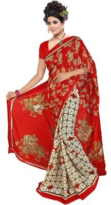 SNEH VARSHA SAREES Printed Daily Wear Synthetic Chiffon Sari