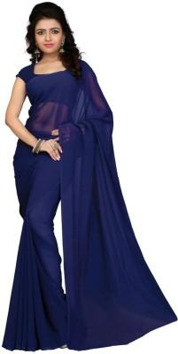SGM Plain Fashion Georgette Sari