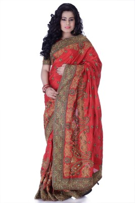 Ambition Sarees Self Design Fashion Silk Sari