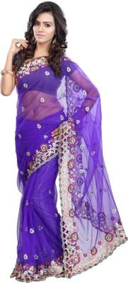 Khazana Embriodered Fashion Net Sari