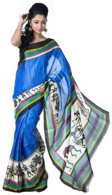 SSMITN Printed Fashion Art Silk Sari