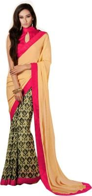 Viva N Diva Printed Fashion Satin, Georgette Sari
