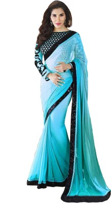 Panash Creations Self Design Bollywood Georgette Sari