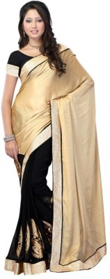 Spangel Fashion Self Design Banarasi Cotton Sari