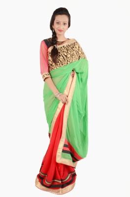 Vasundhara Lifestyle Self Design Fashion Georgette Sari