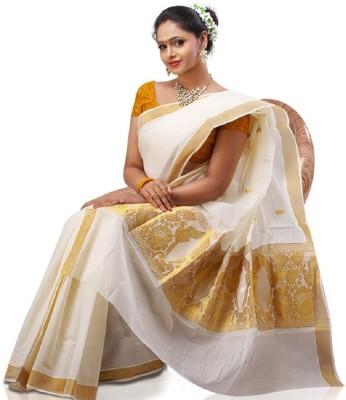 Zeena Embriodered Fashion Handloom Cotton Sari