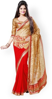 Vivels Enterprise Self Design Bollywood Brasso Sari