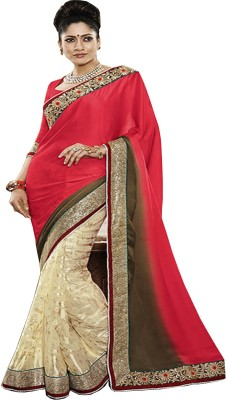 BEAUVILLE VAIIBAVAM Paisley Fashion Synthetic Georgette Sari