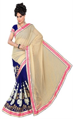 NIDHI210 Solid Fashion Georgette Sari