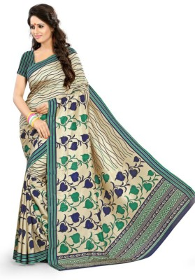 Swaranjali Floral Print, Self Design Fashion Art Silk Sari