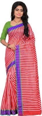 Indi Wardrobe Woven Assam Silk Handloom Silk Cotton Blend Sari