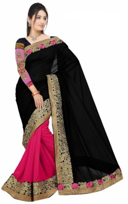 Al Zareen Self Design Fashion Chiffon Sari