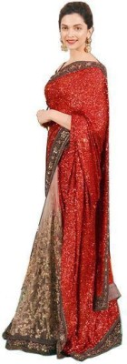 Lovit Embriodered Bollywood Net Sari