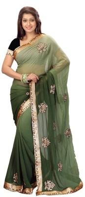 Jay Textile Self Design Fashion Georgette Sari