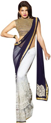Zenny Creation Embriodered Bollywood Georgette Sari