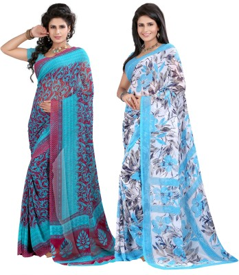 ZofeyFashion Printed Fashion Georgette Sari