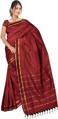 Mann Checkered Ilkal Cotton Sari